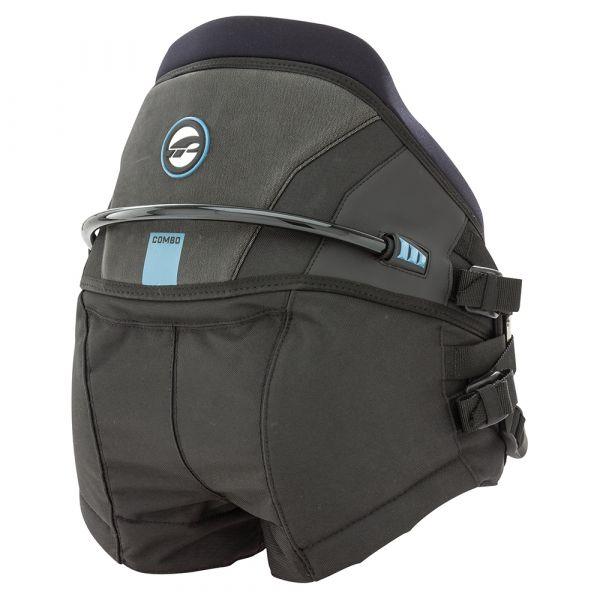 Harness Kite Seat Combo + bar pad Black/Blue 2019