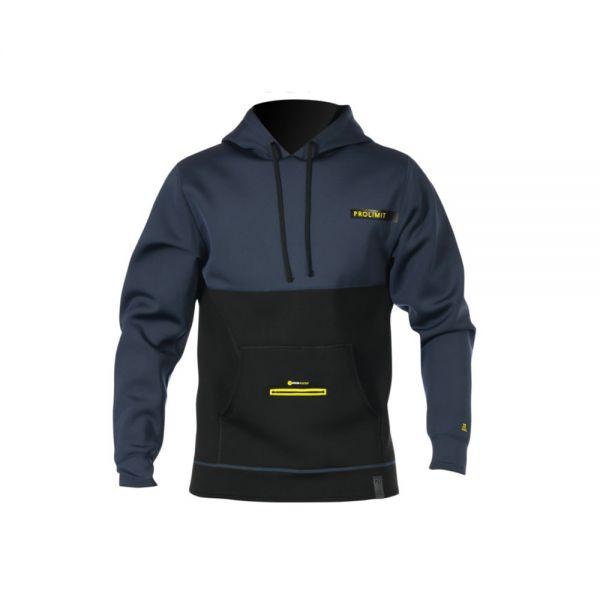 LOOSEFIT Hoodie Neoprene Slate black / Yellow 2019