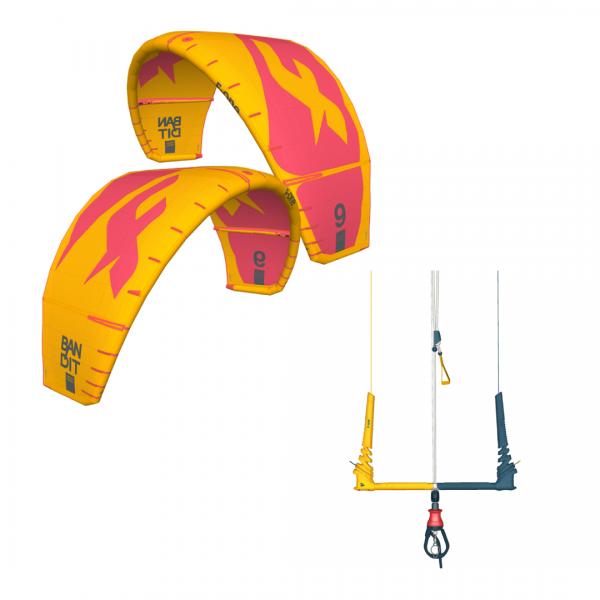 BANDIT 11m2 Mango-Coral Kite + Linxbar Szett