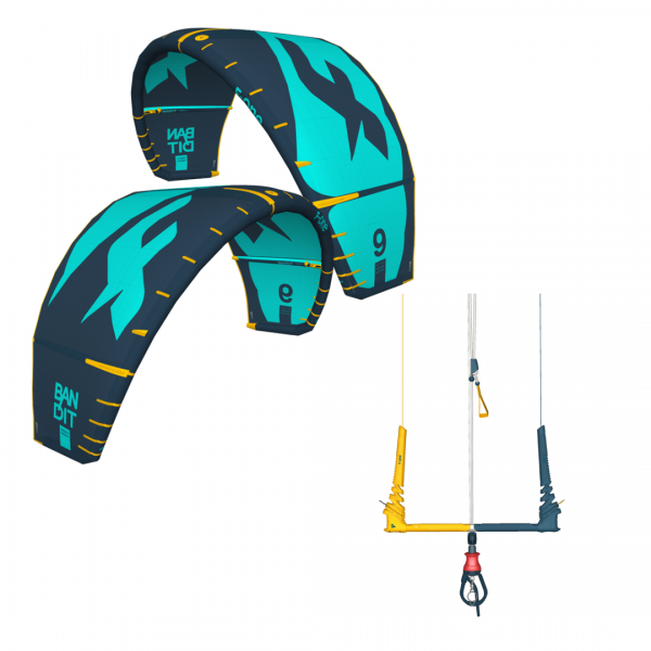 BANDIT 9m2 Slate-Blue Kite + Linxbar Szett