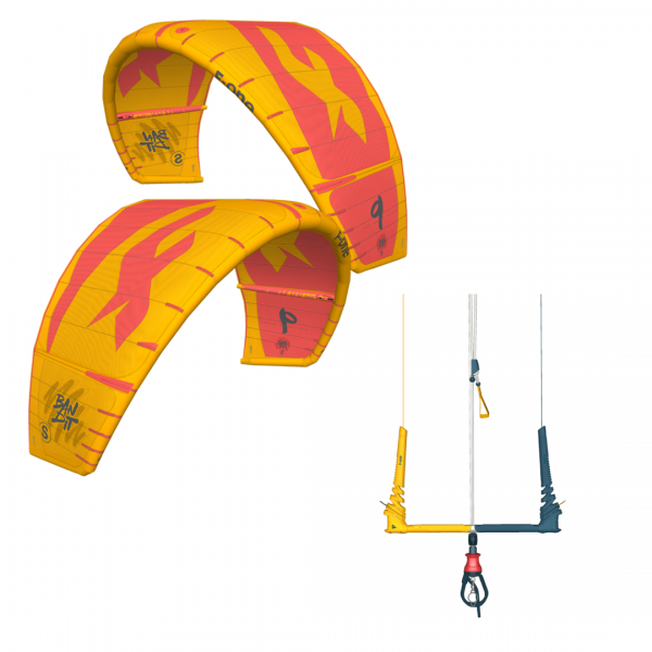 BANDIT-S 9m2 Mango-Coral Kite + Linxbar Szett