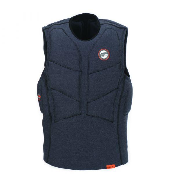 Vest Stretch férfi mentőmellény félig párnázott fekete/narancs