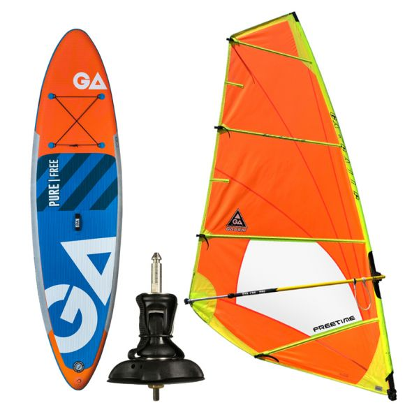 PURE FREE WS SUP 10,7 + FREETIME RIGG 5,5 + UNIFIBER CARDAN baseplate / pack
