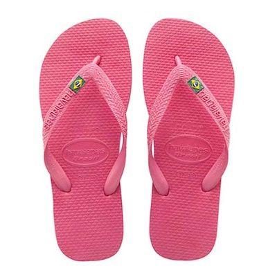 Brasil Logo Pink strandpapucs