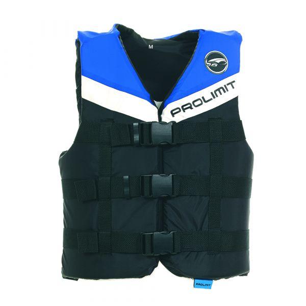 Vest Nylon unisex mentőmellény 3 csatos fekete/kék