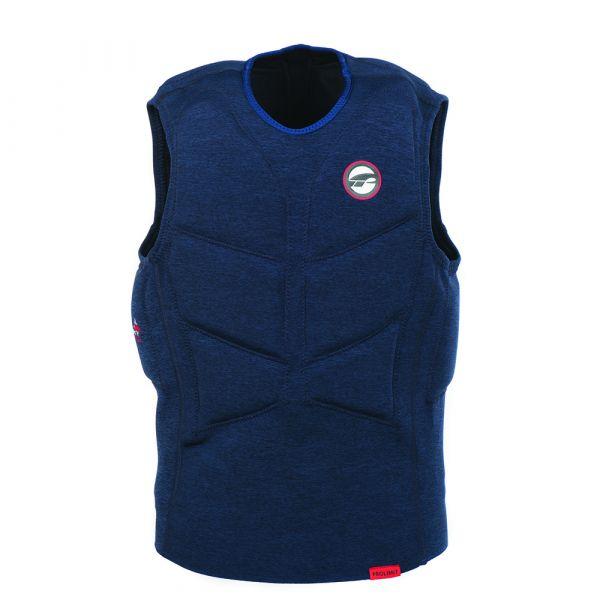 Vest Stretch férfi mentőmellény félig párnázott kék/piros 2019