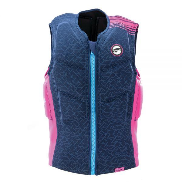 Vest Stretch női mentőmellény félig párnázott kék/pink 2019
