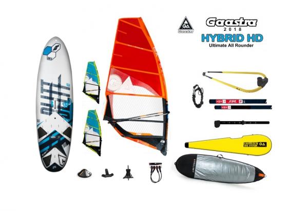 Bullit 2018 + Gaastra Hybrid rig (komplett menetkész windszörf felszerelés)